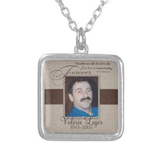 Für immer geliebtes kundenspezifisches Denkmal Halskette Mit Quadratischem Anhänger