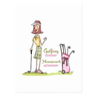 Für immer Golf spielen Postkarte
