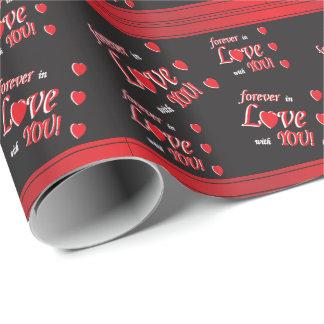 Für immer in der Liebe mit Ihnen Geschenkpapier