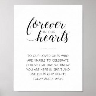 Für immer in unseren Herzen, die Zeichen - Poster