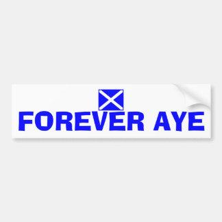 Für immer ja schottischer autoaufkleber