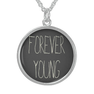 Für immer Junge Sterlingsilber Halskette