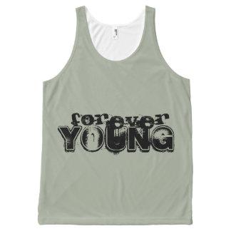 Für immer junges Trägershirt Komplett Bedrucktes Tanktop