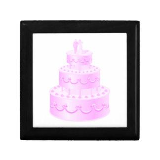 Für immer Liebe-rosa Hochzeits-Kuchen Geschenkbox
