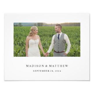 Für immer | personalisierter Hochzeits-Druck Fotografischer Druck