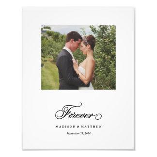Für immer | personalisierter Hochzeits-Druck Photo Druck