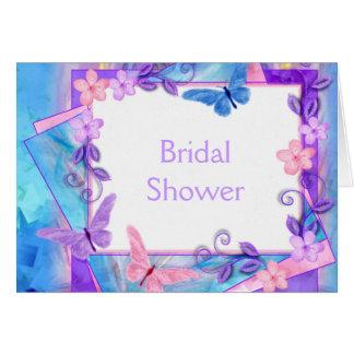 für immer Schmetterling-Brautdusche Karte