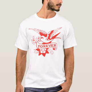Für immer Spatzen-Retro Vintages T-Shirt