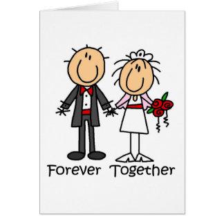 Für immer zusammen T - Shirts und Geschenke Grußkarte