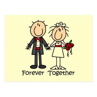 Für immer zusammen T - Shirts und Geschenke Postkarte