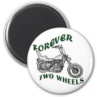 Für immer zwei Räder - Radfahrer Runder Magnet 5,7 Cm