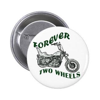 Für immer zwei Räder - Radfahrer Runder Button 5,7 Cm