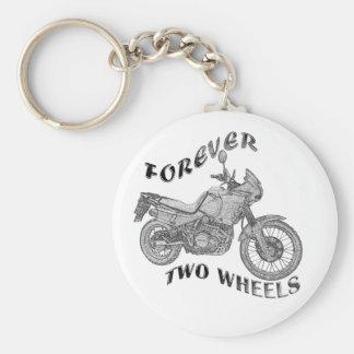 Für immer zwei Räder - Radfahrer Standard Runder Schlüsselanhänger