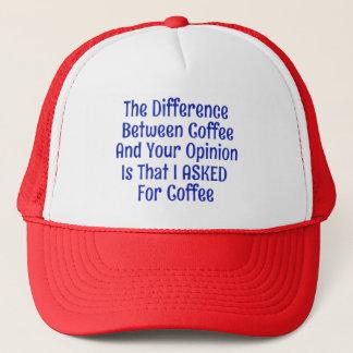 Für Kaffee nicht Ihre Meinungs-Hut-Kappe gefragt Truckerkappe