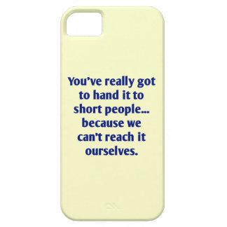 Für kurze Völker mit einer Richtung des Spaßes Etui Fürs iPhone 5