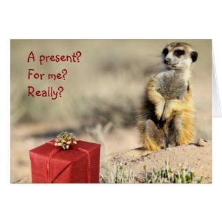 Für mich? - Eine KMP Weihnachtskarte Karte