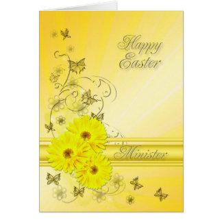 Für Minister Ostern-Karte mit gelben Blumen Karte