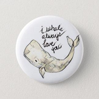 Für Paare niedliches Wal-Abzeichen Runder Button 5,1 Cm