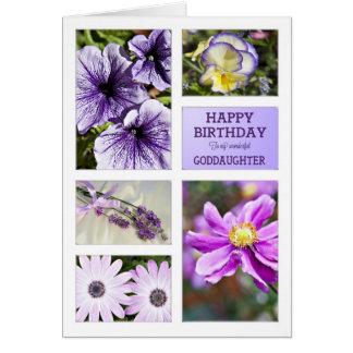 Für Patenttochter Lavendelfarbblumengeburtstag Karte