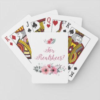 """""""Für Realskees?"""" Blumenspielkarten Spielkarten"""