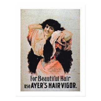 """""""Für schönen Haar-Gebrauch Ayers Haar-Stärke"""" Postkarte"""
