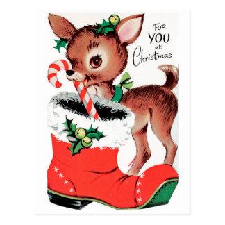 Für Sie am Weihnachtsren Postkarte