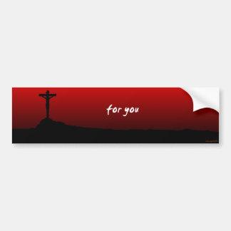 für Sie (Jesus starb) Autoaufkleber
