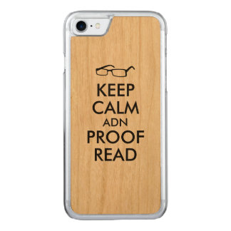 für Verfasser behalten Sie Ruhe und lesen Sie Carved iPhone 8/7 Hülle