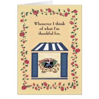 Für wann immer ich denke an, was ich… dankbar bin karte
