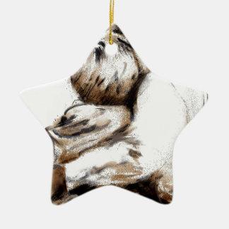 Für, was Liebe tut, fragen Sie Keramik Stern-Ornament