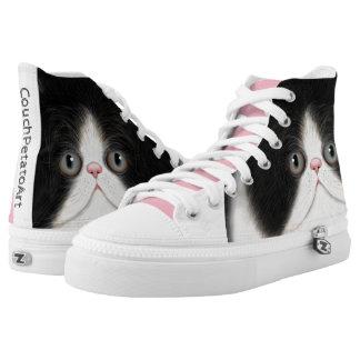 Furball Katzen-Kätzchen beschuht CouchPetatoArt Hoch-geschnittene Sneaker