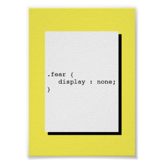 Furcht-Anzeige keine lustiger CSS Poster