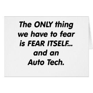 Furcht-Auto Tech Karte