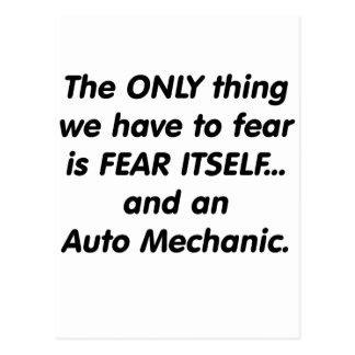 Furcht-Automechaniker Postkarte