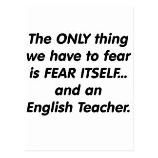 Furcht-Englischlehrer Postkarte
