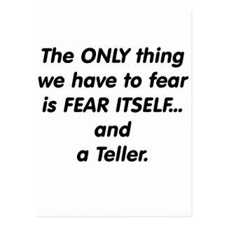 Furcht-Erzähler Postkarte