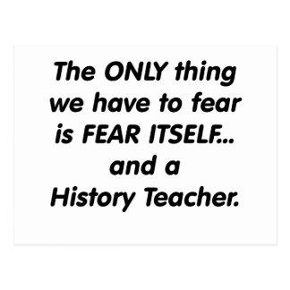 Furcht-Geschichtslehrer Postkarte