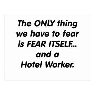 Furcht-Hotel-Arbeitskraft Postkarte