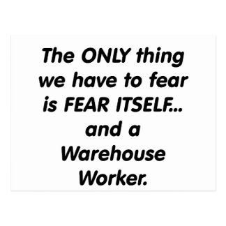 Furcht-Lager-Arbeitskraft Postkarte