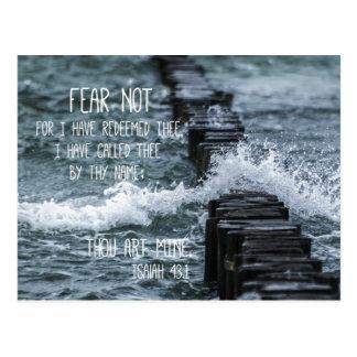 Furcht-nicht Bibel-Vers Postkarte