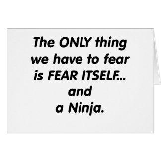 Furcht Ninja Karte