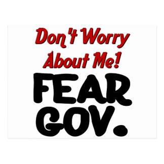 Furcht Postkarte