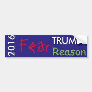 Furcht-Trumpf-Grund im Jahre 2016 Autoaufkleber