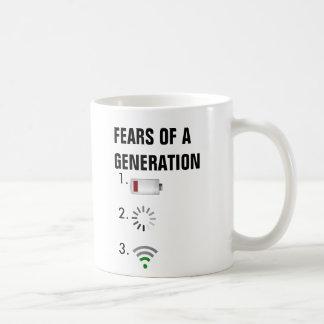 Furcht vor einer Generations-schwachen Batterie, Kaffeetasse