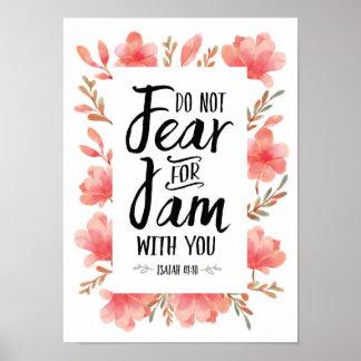 Fürchten Sie nicht sich für mich sind mit Ihnen Poster