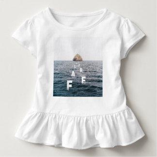 {Furchtloser} Kleinkind-Rüsche-T - Shirt