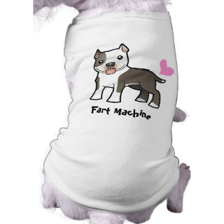 Furz-Maschine (Pitbull/Am Staffordshire Terrier) Ärmelfreies Hunde-Shirt