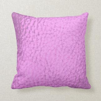 Fuschia Imitat-Leder-Entwurf Kissen