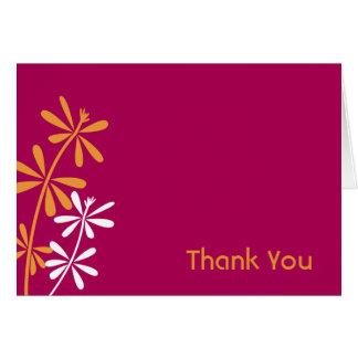 Fuschia und Orange danken Ihnen Karten