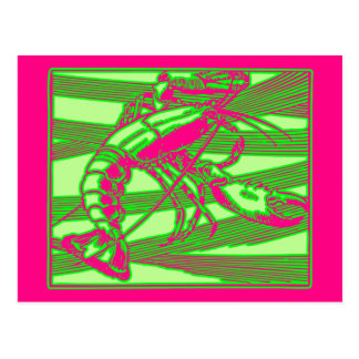Fuscia rosa Hummer-Seeozean Krebsmaine Postkarte